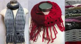 12 Units of Dual Purposes Infinity Circle Scarves With Dual Patterns - Winter Scarves