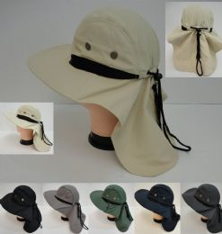 24 Units of Legionnaires Hat [solid Color With Mesh] - Sun Hats