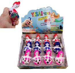 36 Units of Mesh Squish Ball--Mermaid with Water Beads - Slime & Squishees