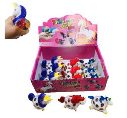 36 Units of Mesh Squish Ball--Unicorn with Water Beads - Slime & Squishees