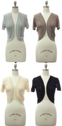 36 Units of Women's Knit Bolero Cover Up - Womens Sweaters & Cardigan