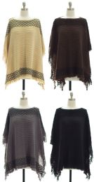 25 Units of Women's Knit Pullover Poncho - Womens Sweaters & Cardigan
