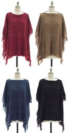 25 Units of Women's Pullover Knit Poncho - Womens Sweaters & Cardigan