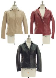 24 Units of Womens Faux Leather Jacket - Women's Winter Jackets