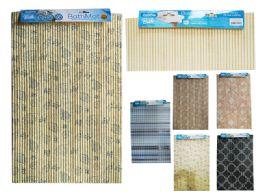 """60 Units of NoN-Slip Floor & Bath Mat, 15.7"""" X 25.6"""" Assorted Designs - Bath Mats"""