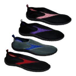 36 Units of Women's Assorted Colors Aqua Shoes - Women's Aqua Socks