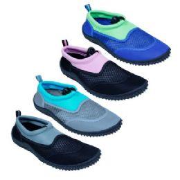 48 Units of Women's Assorted Colors Aqua Shoes - Women's Aqua Socks
