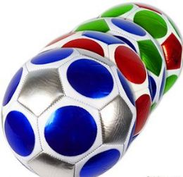 10 Units of Official Size Metallic Geometric Soccer Balls - Balls