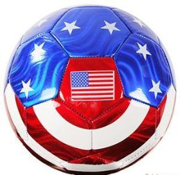 10 Units of Official Size Metallic Usa Flag Soccer Balls - Balls