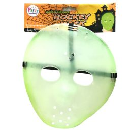 36 Units of PARTY SOLUTIONS HALLOWEEN ADULT HOCKEY MASK GLOW IN THE DARK - Halloween & Thanksgiving