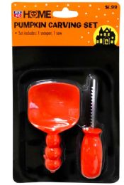 48 Units of PUMPKIN CARVING SET 1 SCOOPER AND 1 SAW - Halloween & Thanksgiving