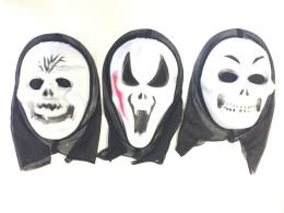 36 Units of PARTY SOLUTIONS HOODED HORROR MASK ASSORTED - Halloween & Thanksgiving
