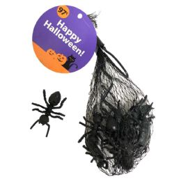 48 Units of HALLOWEEN PLASTIC INSECTS 12 PK ASTD BLACK - Halloween & Thanksgiving