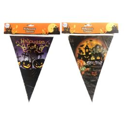 36 Units of Party Solutions Halloween Banner Astd Designs 8 Feet - Halloween & Thanksgiving