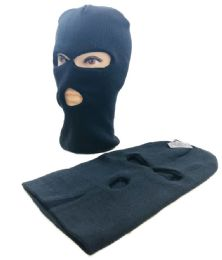 24 Units of 3 Hole Black Winter Ski Mask - Unisex Ski Masks