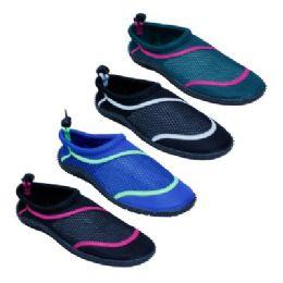 36 Units of Ladies Aqua Socks In Assorted Colors - Women's Aqua Socks