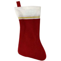 """48 Units of CHRISTMAS STOCKING 17"""" FELT - Christmas Stocking"""
