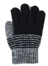 72 Units of Kids Winter Striped Gloves - Kids Winter Gloves