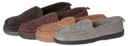30 Units of Men's Quilted Closed Back Slippers - Men's Slippers