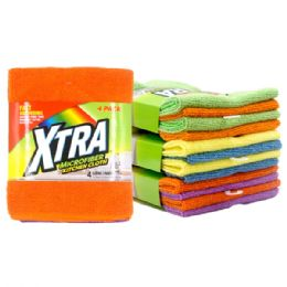 48 Units of 4 Pack Xtra Micro Fiber Cloth - Cleaning Products