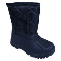 18 Units of Girls' Black Winter Boots - Girls Boots