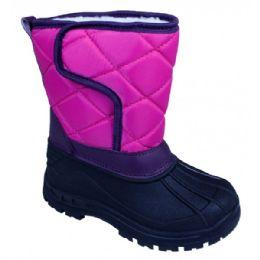 18 Units of Girls' Fuchsia Winter Boots - Girls Boots
