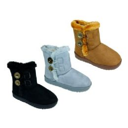 36 Units of Girls' Assorted Color Winter Boots - Girls Boots