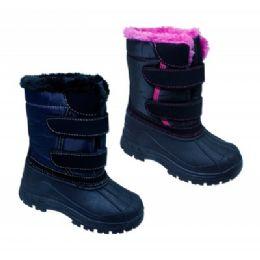 18 Units of Girls' Fur Winter Boots - Girls Boots
