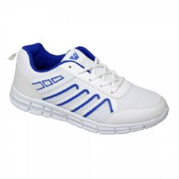 12 Units of Men's Sneaker In White And Blue - Men's Sneakers