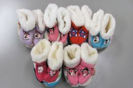 60 Units of Girls Slipper Boots with Animal Design - Girls Slippers