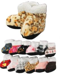 60 Units of Girls Printed Slipper Boots - Girls Slippers