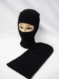 36 Units of Winter Solid Black Ski Mask - Ski Gloves