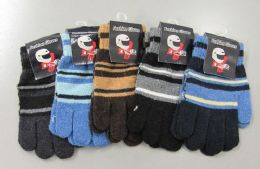 180 Units of Boys Knit Glove - Kids Winter Gloves