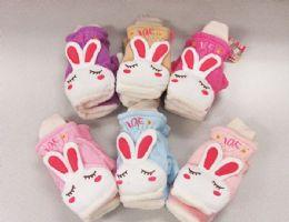 120 Units of Ladies Mitten with Rabbit Design - Winter Gloves