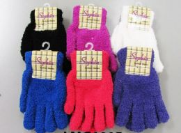 120 Units of Ladies Cozy Glove Solid Colors - Winter Gloves