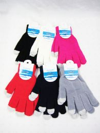 36 Units of Winter Fashion Touch Scream Gloves - Conductive Texting Gloves