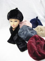 36 Units of Ladies Fashion Winter Cap And Scarf Set - Winter Sets Scarves , Hats & Gloves