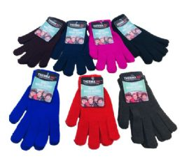 72 Units of Adult Magic Gloves Assorted Colors - Knitted Stretch Gloves