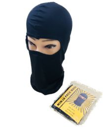 36 Units of Ninja Black Only Face Mask - Unisex Ski Masks