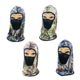 36 Units of Ninja Face Mask [Camo with Mesh] - Unisex Ski Masks