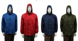 24 Units of Men's Wind Breaker Jacket - (assorted Colors) - Men's Winter Jackets