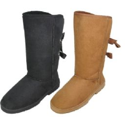 18 Units of Ladies Tall Winter Boot In Tan And Black - Women's Boots
