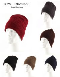 72 Units of Adult Ribbed Heavy Knit Winter Hat - Winter Hats