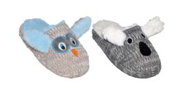 36 Units of Children's Soft Plush Animal Slippers - Unisex Footwear