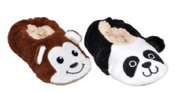36 Units of Toddler's Soft Plush Animal Slippers - Toddler Footwear