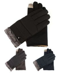 72 Units of Womans Fur Cuffed Extreme Weather Texting Gloves - Winter Gloves