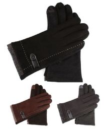 72 Units of Womans Fashion Winter Texting Gloves With Gripper Palm - Winter Gloves