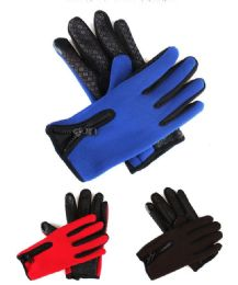 72 Units of Adults Winter Texting Gloves With Gripper Palm - Winter Gloves