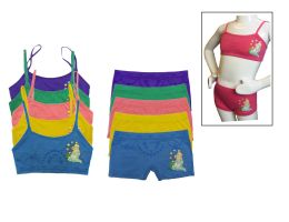 36 Units of Girls Seamless Bra And Boxer Set - Girls Underwear and Pajamas