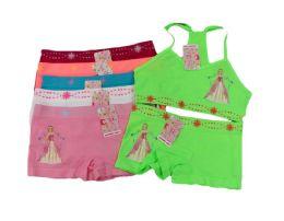 144 Units of Girls Seamless Bra + Boxer Set - Girls Underwear and Pajamas